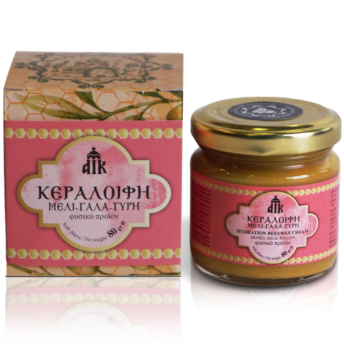 This wax cream is prepared at the Holy Monastery of Saint James the Just. Rich in natural nutrients, antioxidants and moisturizing ingredients, ideal and effective for dry elbows, heels, cracked, dry and chapped hands. It is available in 80gr and 35gr. / Η κεραλοιφή αυτή είναι πλούσια σε φυσικά θρεπτικά, ενυδατικά και αντιοξειδωτικά υλικά, ιδανική και αποτελεσματική για αγκώνες, φτέρνες, σκασμένα, ξηρά και ταλαιπωρημένα χέρια. Διατίθεται σε 80γρ.και 35γρ.