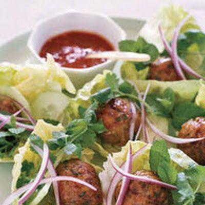 Vietnamese Chicken Meatballs in Lettuce Wraps #zestaurantoftheyear
