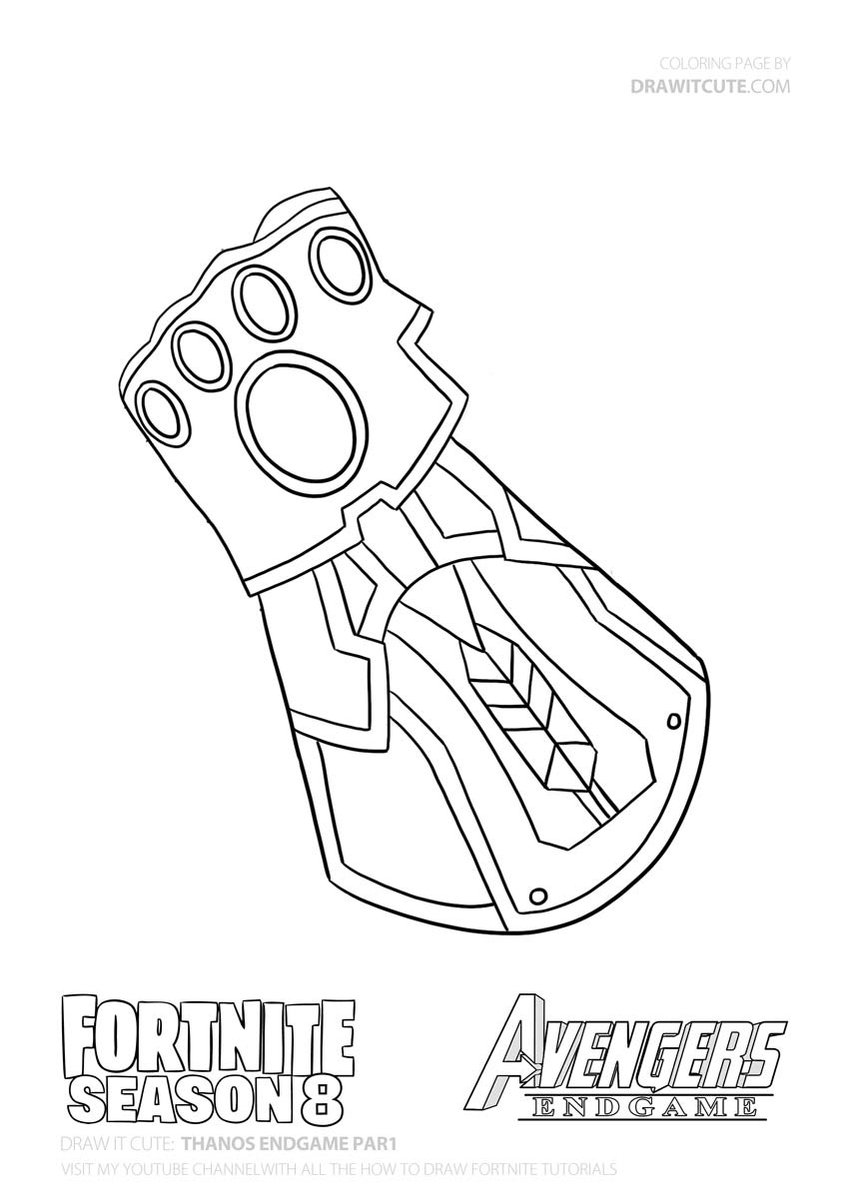 Thanos Infinity Gauntlet Coloring Pages Marvel Art Drawings Avengers Drawings