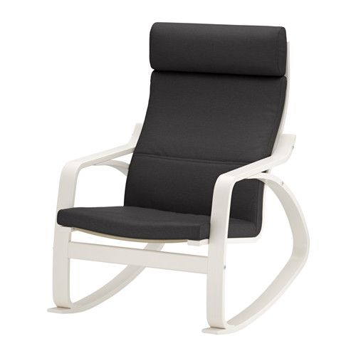 IKEA - POÄNG, Keinutuoli, Finnsta harmaa, , Helppo pitää puhtaana konepestävän irtopäällisen ansiosta.Koivuinen liimapuurunko joustaa mukavasti.Korkea selkänoja tukee hyvin niskaa.10 vuoden takuu. Lisätietoja ja takuuehdot takuuvihkosessa.