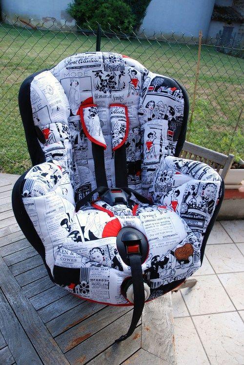 tuto pour cr er une housse de si ge auto b b confort. Black Bedroom Furniture Sets. Home Design Ideas