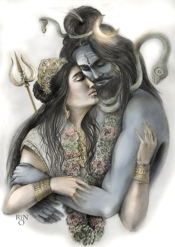Shiva and Parvati by RinRio on DeviantArt