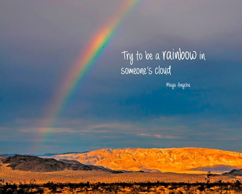 Inspirational Quote Rainbow Photography Typography Print Etsy Rainbow Quote Nature Quotes Rainbow Photography