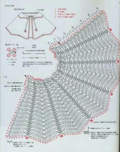 Pattern crochet   dress pattern   Pinterest   Ponchos, Chal y Tejido