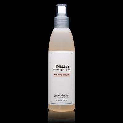 Primary Benefits of Timeless Prescription® MDI Firming Activator: Tones skin, Increases cellular water retention, Promotes elasticity