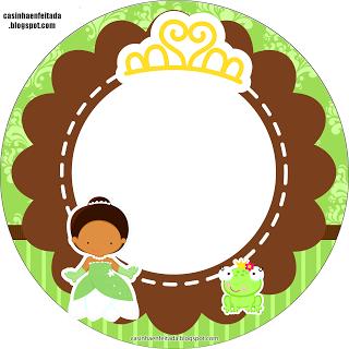 Kit para Festas - A Princesa e o Sapo (Casinha Enfeitada)