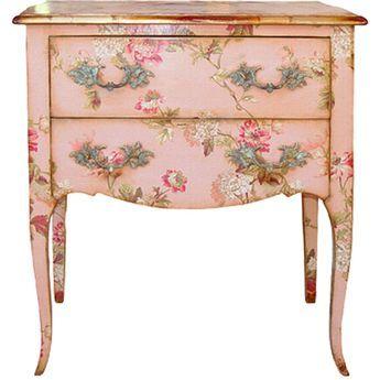 floral decoupage furniture. Floral. Decoupage FurniturePink Floral Furniture L
