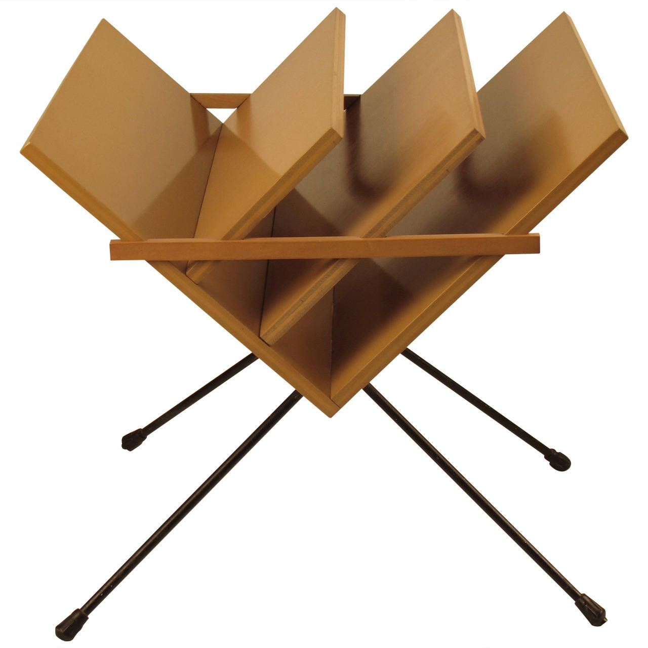 unusual s european modern magazine rack with hairpin legs. unusual s european modern magazine rack with hairpin legs