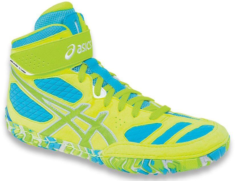 7cef683422f8 ASICS Aggressor 2 LE Wrestling Shoes - Neon Blast