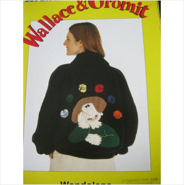 Patons knitting pattern E2335 Wallace & Gromit sweater bust 36 - 42 inch 5013712322020 on eBid United Kingdom
