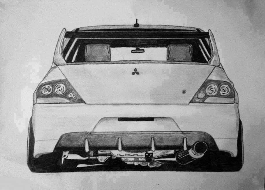 Mitsubishi Lancer Evolution Ix Sketch Desenhos De Carros Carros Carros Tunados