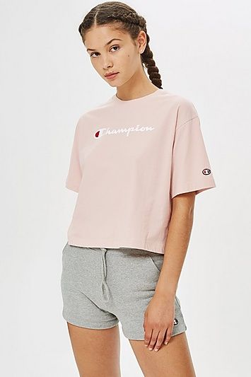 b651e2d358d6 Cropped Script Logo T-Shirt by Champion in 2019 | Products ...
