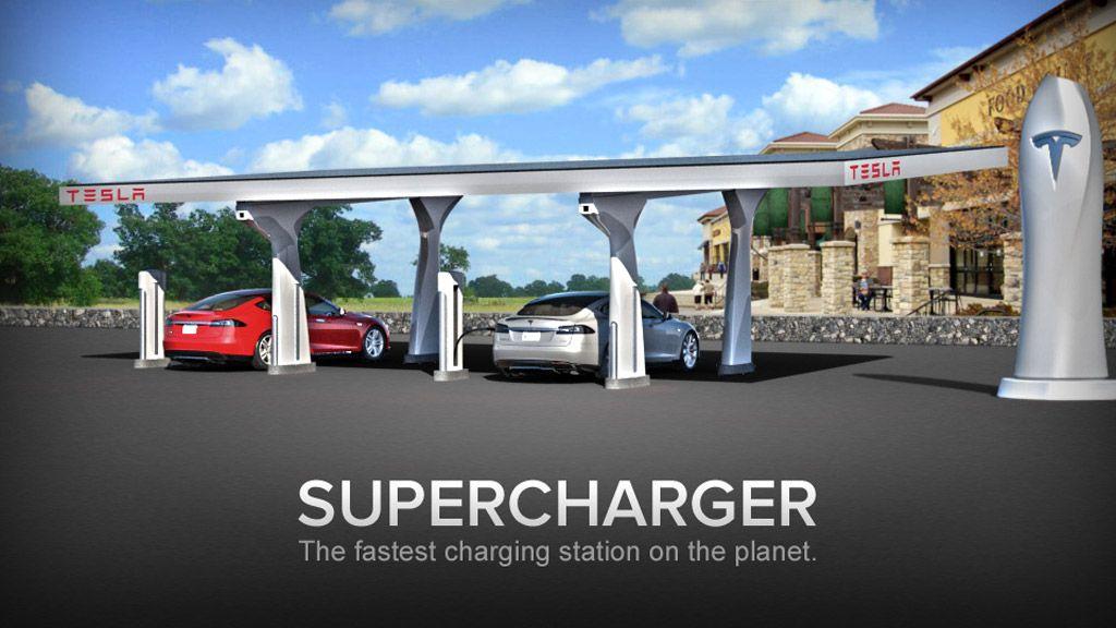 Tesla Supercharger Fast Charging System For Electric Cars 100403181 L Jpg 1024 576 Electric Car Charging Tesla Motors Tesla