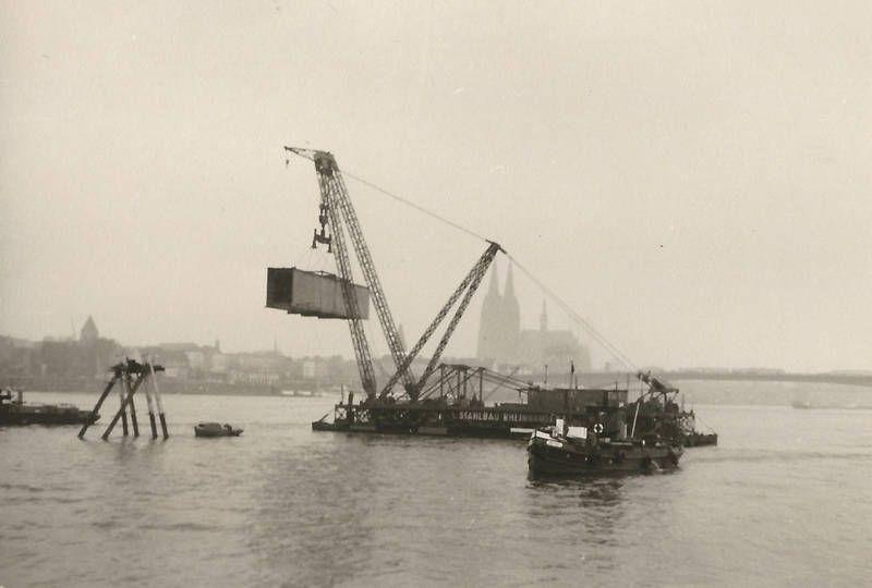 Bau Der Severinsbrucke Wdr Digit Schiff Stahlbau Alte Fotos