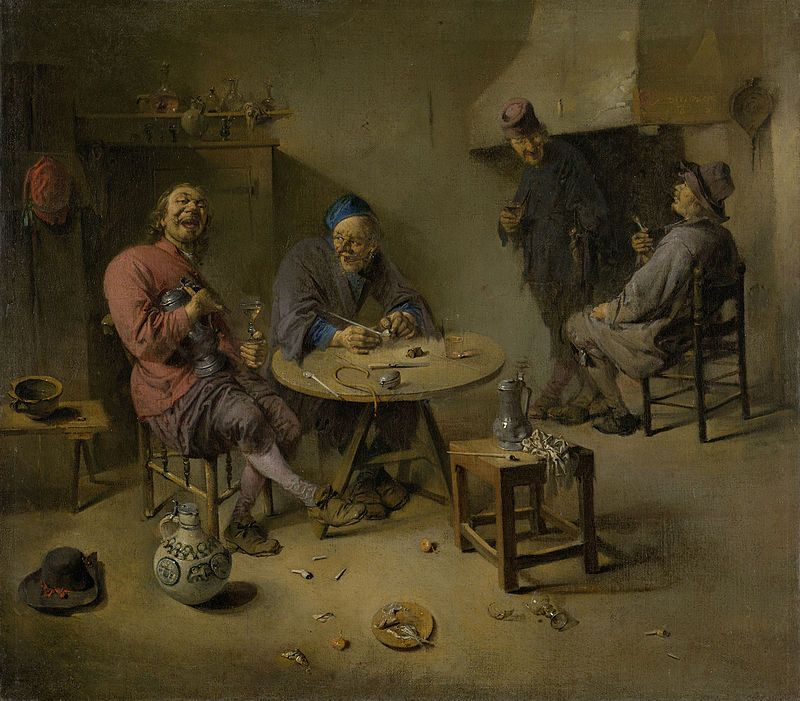 2- Abraham Diepraam, La Buvette, autre version, Rijksmuseum - § A