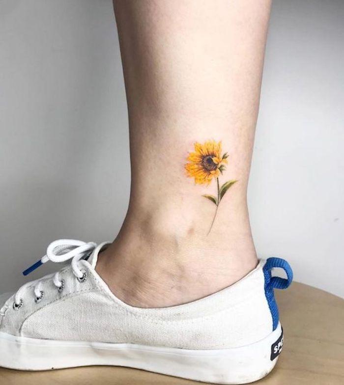 35 Tatuagens Fantásticas de Flor de Girassol e o seu significado - Página 3 de 7 - 123 Tatuagens