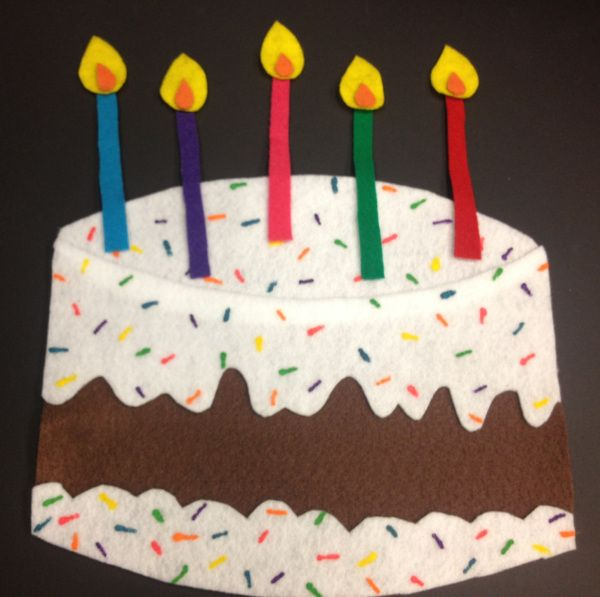 Five Birthday Candles Flannel Rhyme Finger Play