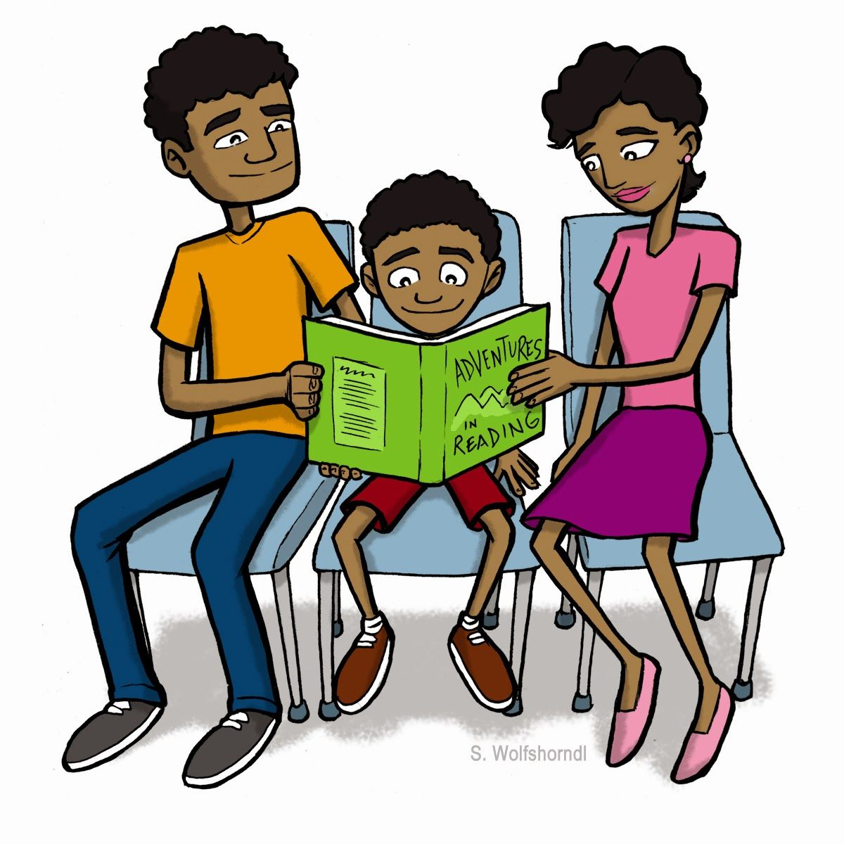 family reading clip art family reading together family reading night rh pinterest co uk Parent Reading Clip Art Reading Group Clip Art