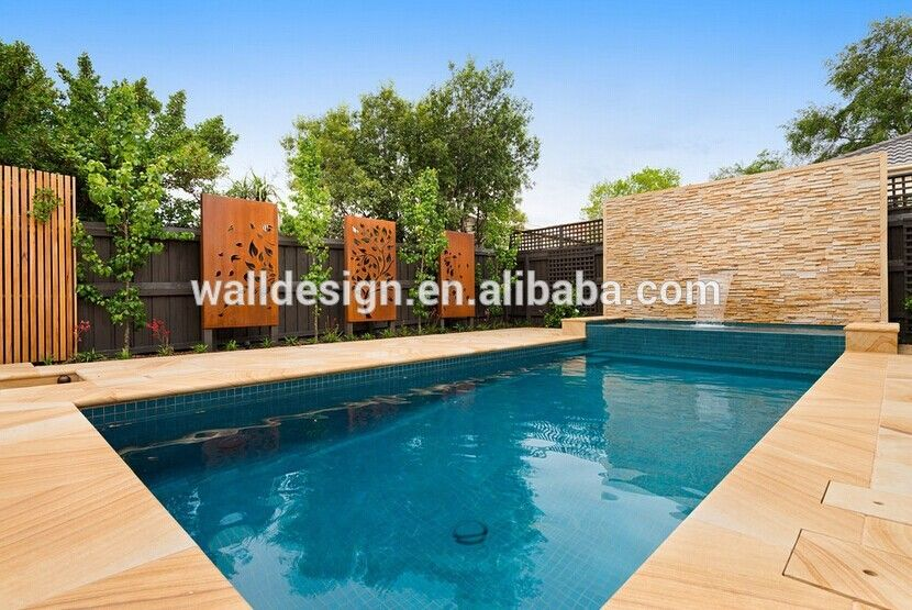 Pool privacy screen buy outdoor metal screen metal for Privacy pool screen