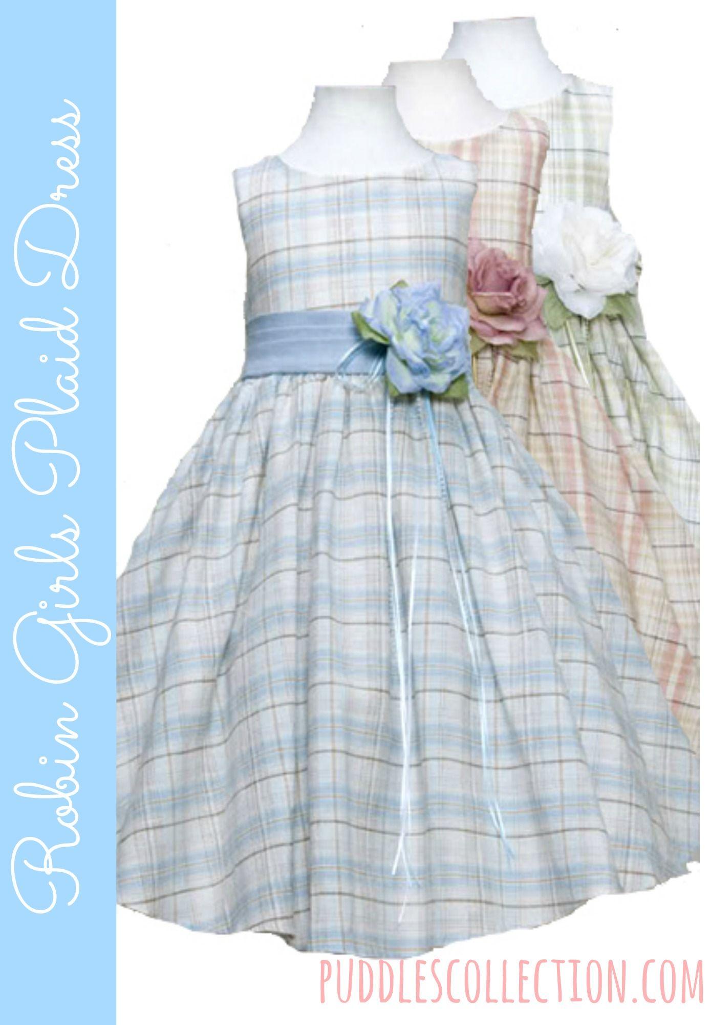 2e7e0f10620 Robin Girls Plaid Dress Cute Girl Dresses