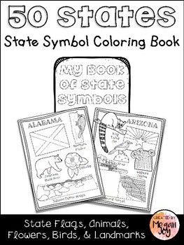 State Symbols Coloring Book This student booklet includes