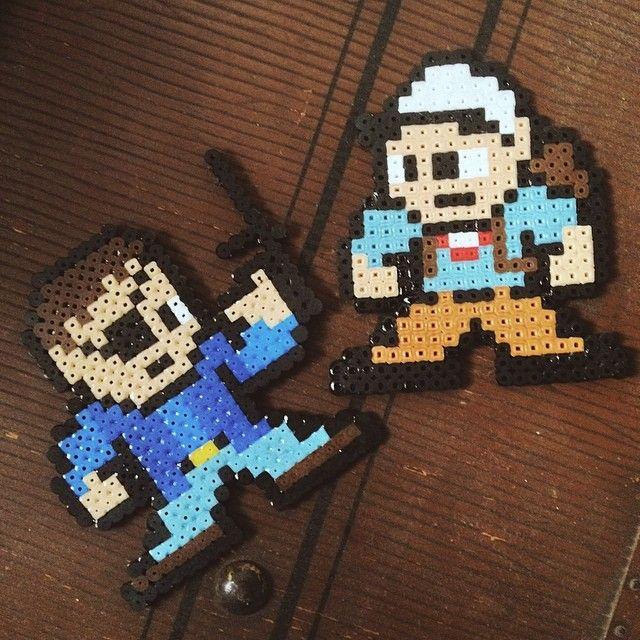 The Walking Dead perler beads by dmnqn