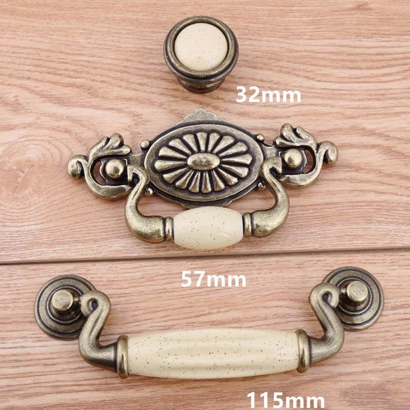 17 Drawer Pulls woodworking supply cabinet Vintage Porcelain door knobs