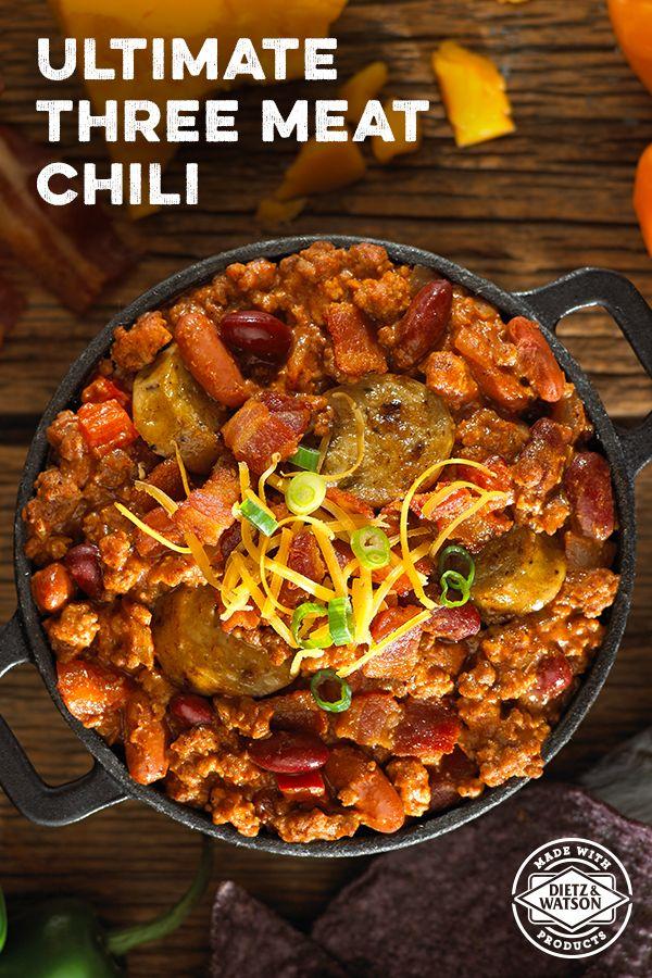 ultimate three meat chili