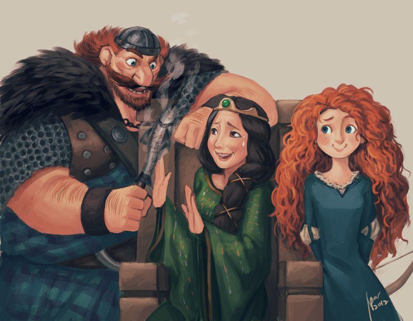 brave merida family Disney