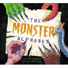 """""""The Monster Alphabet"""" by Michael Spradlin. From the Abominable Snowman to Zombies, this full-color picture book takes young readers on a frighteningly fun journey through the alphabet. With a diverse range of monsters and bold illustrations, this book is perfect for boys, girls, teachers, and parents with an appreciation for the scarier things in life!"""