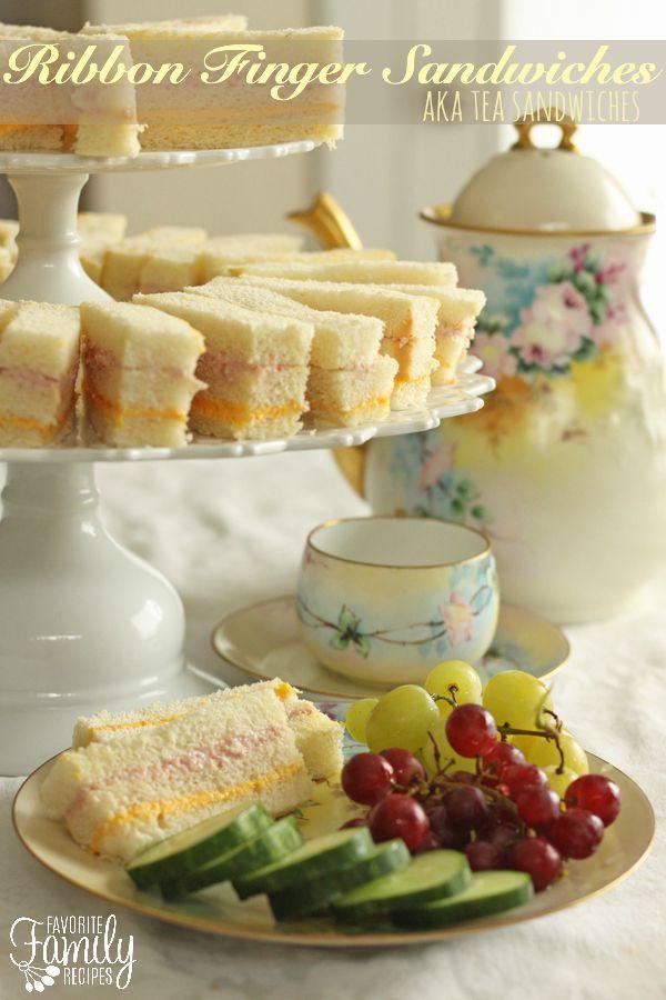 ribbon finger sandwiches aka tea sandwiches