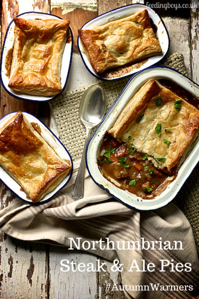 Northumbrian Steak and Ale Pies by feedingboys.co.uk for ...