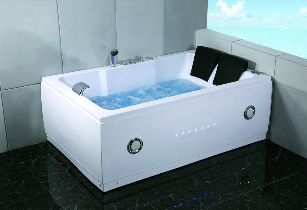 2 Person Indoor Whirlpool Jetted Hot Tub SPA Hydrotherapy Massage ...