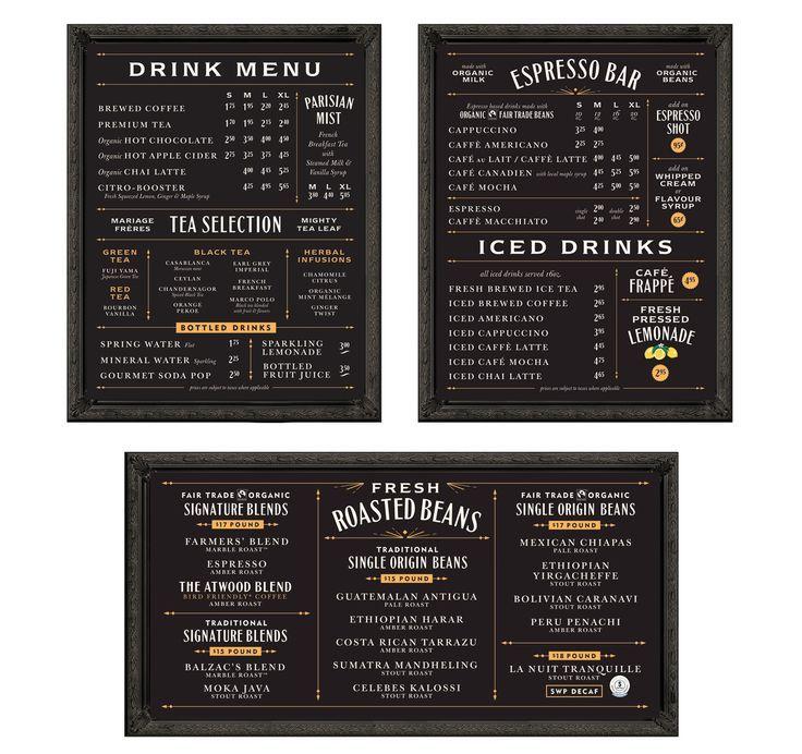Coffee Shop Menu Board Balzac's coffee roasters menu | cafe stuff ...