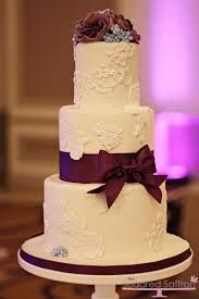 two tier wedding cakes with purple - Google Search