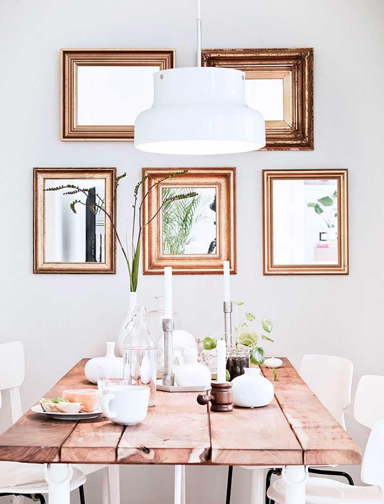 Idée Déco Salle à Manger Où La Déco Murale Colorée Prend Vie - Table salle a manger scandinave occasion pour idees de deco de cuisine