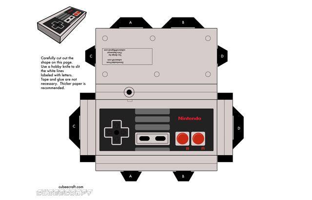 NES Controller » Cubeecraft - Free Papercraft Toys