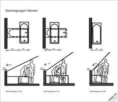 Bad dachschräge grundriss  Badewanne unter der Dachschräge | Bad im Dach | Pinterest ...