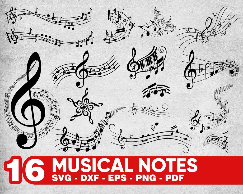 MUSICAL NOTES SVG, music svg, music clipart, music notes