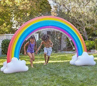 Rainbow Inflatable Sprinkler Pottery Barn Kids Backyard