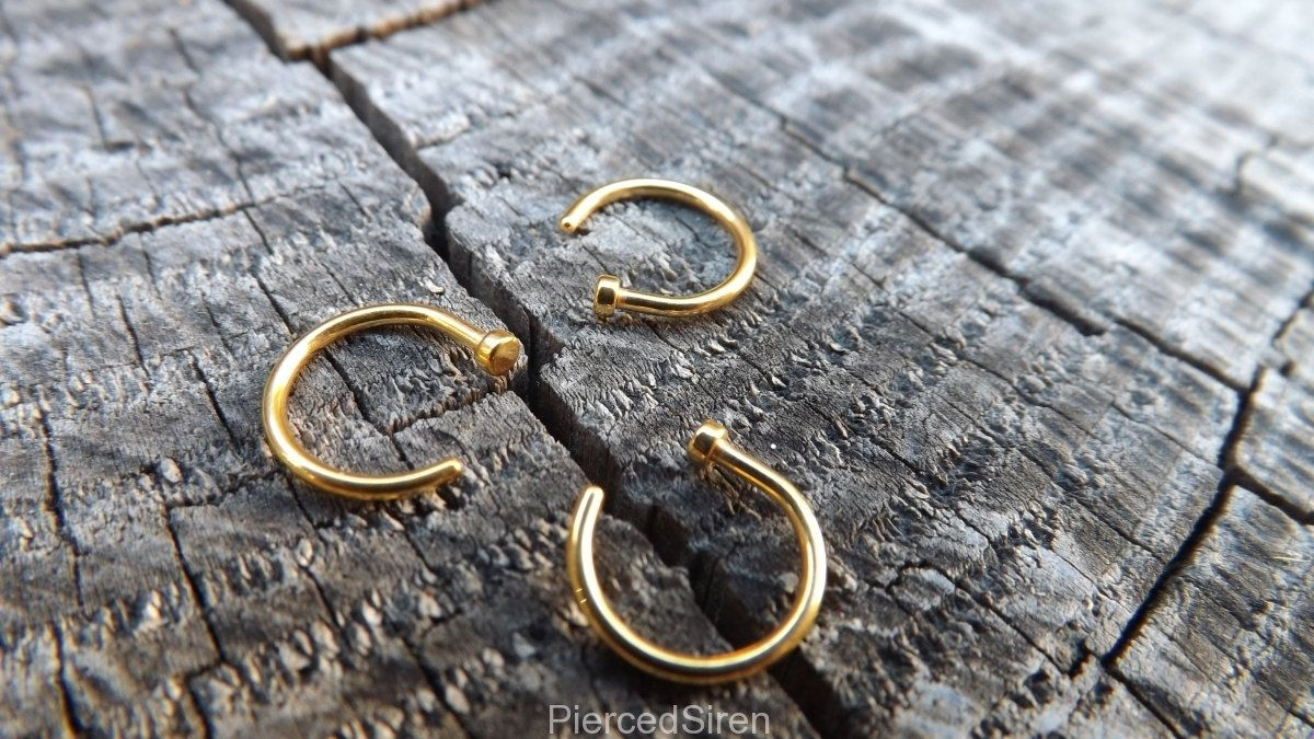 Medusa Piercing,indian Nose Ring,indian Nose Hoop,nose Stud,rose Gold  Stud,indian Nose Stud,nose Jewelry,cartilage,nose Piercing,nose Ring