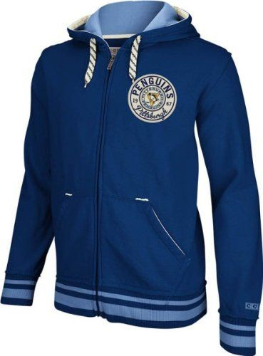 Pittsburgh Penguins Vintage CCM Classics Fleece Full Zip Blue Sweatshirt by  Reebok.  74.95. Combine your favorite comfortable hoodie and your classic  love ... a1ce68e3d