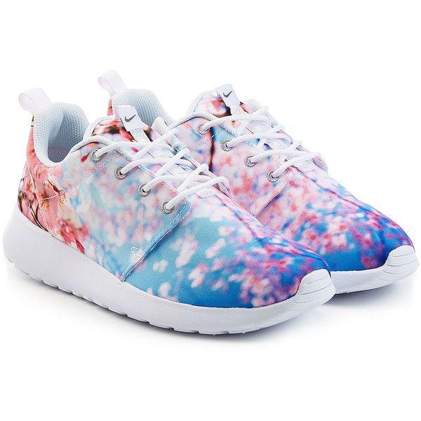 Nike Multicolor Roshe Run Cherry Blossom Sneakers