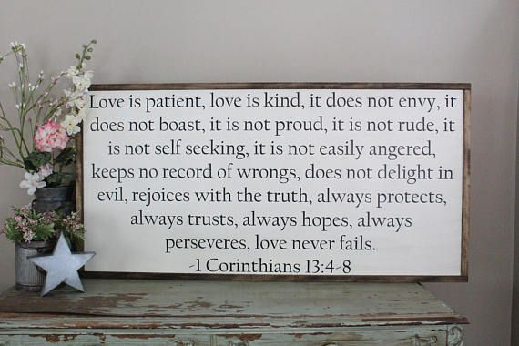 This Item Is Unavailable Etsy Love Is Patient Bible Verse Wall Art Signs