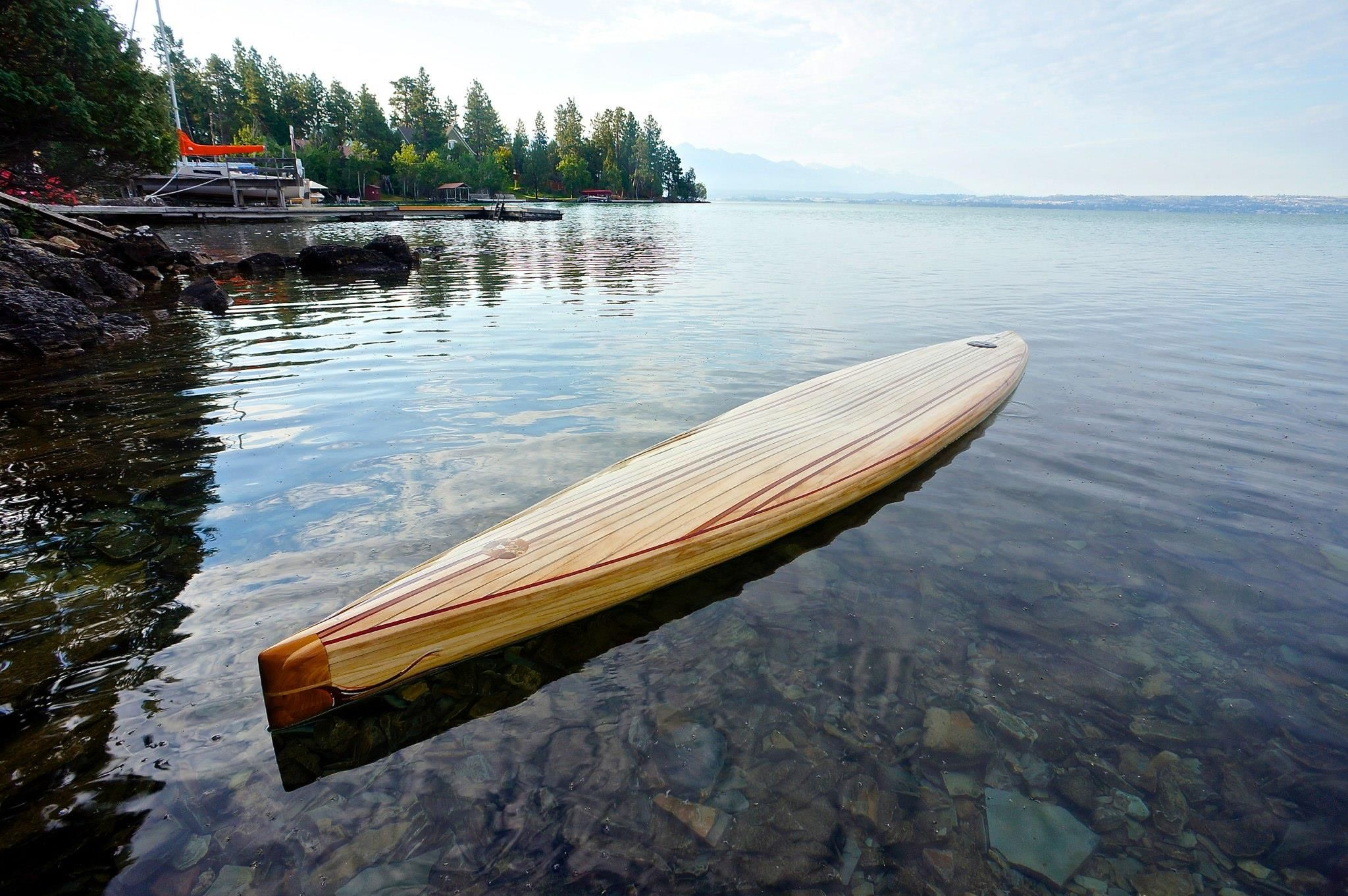 Building A Wooden Stand Up Paddleboard Sup With Images Wooden Boat Building Boat Plans Wooden Kayak