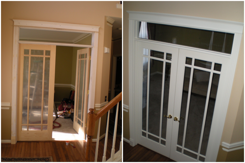 French door install and interior trim door installation
