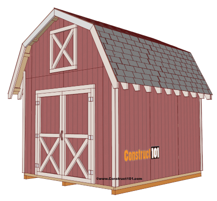 Shed Plans 10x12 Gambrel Shed Free Shed Plans Shed Building Plans Building A Shed