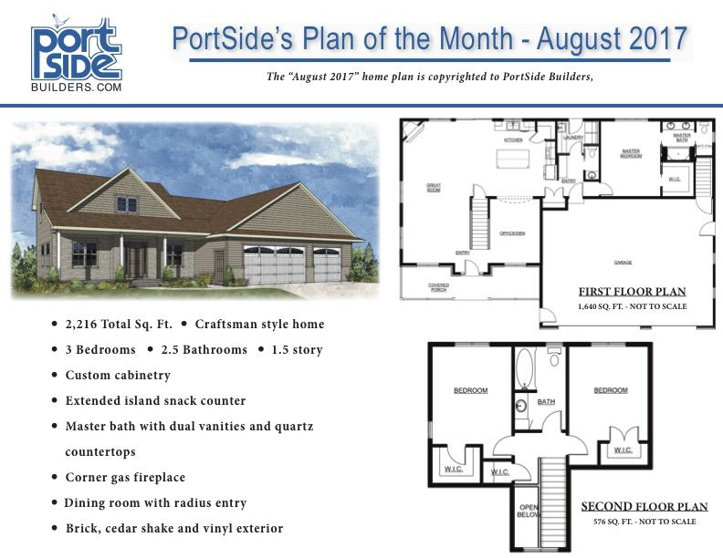 Pin By Portside Builders Inc On Portside Builders Home Plan Of The Month House Plans Custom Home Plans How To Plan