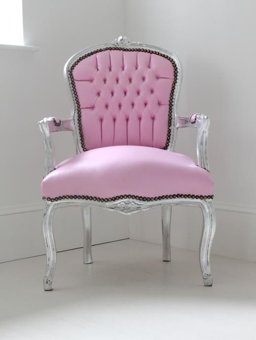 Light Pink Bedroom Chair \