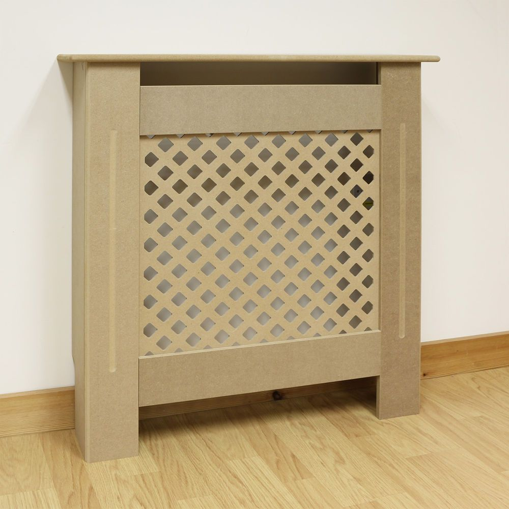 Extra small size radiator cover unpainted 15cm thick mdf